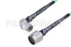 N Male to TNC Male Right Angle Low Loss Cable 100 CM Length Using PE-P160LL Coax -- PE3C5268-100CM -Image