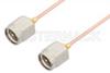 SMA Male to SMA Male Cable 18 Inch Length Using PE-047SR Coax, RoHS -- PE3656LF-18 -Image