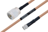 MIL-DTL-17 N Male to SMA Male Cable 18 Inch Length Using M17/128-RG400 Coax -- PE3M0070-18 -Image