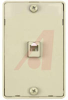 QUICK MOUNT WALL PHONE JACK, 4 CONDUCTOR, IVORY -- 70159818