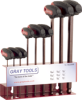 9 Pieces SAE Ball T-Handle S2 Hex Key Set -- SCD2009 - Image