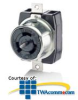 Leviton Non-NEMA Locking Flush Mount Receptacle.. -- L-CS8269