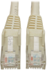 Cat6 Gigabit Snagless Molded UTP Patch Cable (RJ45 M/M), White, 6 ft. -- N201-006-WH