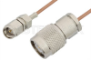 SMA Male to TNC Male Cable 36 Inch Length Using RG178 Coax -- PE34248-36 -Image