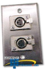 Astatic 3-Pin Connector Wall Plate -- 40-347 - Image