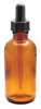 15040P-60 - 60 mL Amber Glass Dropping Bottle, Plastic dropper -- GO-34523-50