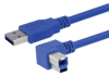 USB 3.0 A male to right angle left exit B male 1M -- MUS3A00028-1M -Image