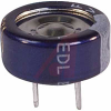 CAPACITOR, ALUMINUM ELECTRONIC (EDL) STACKED COIN, .10 F, 5.5 VOLT, MAX RES. 75 -- 70186135