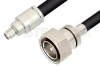 SMA Male to 7/16 DIN Male Cable 48 Inch Length Using RG214 Coax -- PE3233-48 -Image