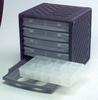 CABINET, STACKABLE, 5 BOX, POLYPROPYLENE -- 92N3711