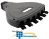 ICC 6-Port Modular Mobile Outlet Patch Box -- IC107MB6BK