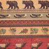 Elk/Bear/Fish/Canoe Frieze Fabric -- RH-Frontier - Image