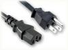 NEMA 5-15P to IEC-60320-C15 HOME • Power Cords • North American Power Cords • 3 Conductor Power Cords -- 2502.072 -Image