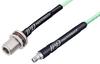 SMA Female to N Female Bulkhead Low Loss Cable 24 Inch Length Using PE-P142LL Coax, RoHS -- PE3C3159-24 -Image