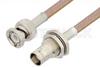 BNC Male to BNC Female Bulkhead Cable 48 Inch Length Using RG400 Coax -- PE3423-48 -Image
