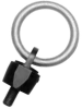 Large Opening Swivel & Pivot Hoist Ring: 1-8 Thread, Rated Load: 10,000 lbs. -- AK42670 - Image