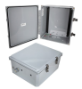 14x12x06 Polycarbonate Weatherproof Outdoor IP66 NEMA 4X Enclosure, DIN Rail Mount DKGY -- TEPC141206-000DR -- View Larger Image