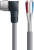 LAPP UNITRONIC® Devicenet™ Thick Single-Ended Cordset - 5 positions male 7/8 inch 90° to Wire Leads - Continuous Flex - Gray PVC - 10m -- OLFDN4110002F10 -Image