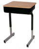 Une-Frame Desk with Open Front Book Box 873