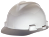 MSA V-Gard® Cap, White, Slotted, Fast-Trac® Ratchet -- 463942R -- View Larger Image