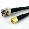 SMA Male to BNC Male Cable RG-58 Coax in 48 Inch -- FMC0208058-48 -Image
