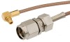 SMA Male to MMCX Plug Right Angle Cable 36 Inch Length Using RG178 Coax -- PE34777-36 -Image