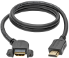 High-Speed HDMI Cable with Ethernet, Digital Video with Audio (M/F), Panel Mount, 3 ft. -- P569-003-MF-APM