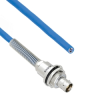 Plenum Cable Assembly TRB Insulated Bulk Head 3-Lug Cable Jack with Bend Relief to Blunt MIL-STD-1553 .242