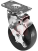 Caster, Swivel; 240 lbs.; 5.125 in.; 4 in.; 12 ga. Steel; Flat Black Smooth -- 70149036 - Image