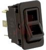 Switch, EURO-Rocker, Illuminated, Rated:15A,125VAC; 15A,28VDC,ON-OFF-ON -- 70155796 - Image