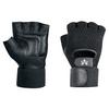 Mesh Material Handling Fingerless Gloves w/ Wrist Strap - Large -- GLV1015L -- View Larger Image