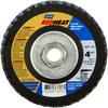 Norton Red Heat R961 CA Coarse Arbor Thread Fiberglass Conical Flap Disc -- 66623399053 - Image