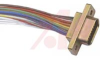 connector,micro d w/jack screw,metal shell,9 socket cont w/18 inch wire leads* -- 70039673
