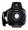 The thermal imager's flexible camcorder design with rotatable handle and fold-out display, high-resolution detector -- 0563 0885 71