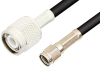 Reverse Polarity SMA Male to TNC Male Cable 12 Inch Length Using RG223 Coax -- PE35224-12 -Image
