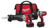 Milwaukee 2690-22 M18-18v Li-ion 2 Tools combo Kit 1/2