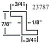 Aluminum Extrusions Architectural Shapes ZEES 6061-T6 -- Z347818