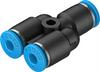 QSY-4-100 Push-in Y-connector -- 130807 -Image