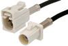 White FAKRA Plug to FAKRA Jack Cable 60 Inch Length Using RG174 Coax -- PE38752B-60 -Image