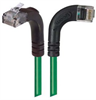 Category 6 Right Angle Patch Cable, RA Right Exit/Right Angle Up- Green 25.0 ft -- TRD695RA12GR-25 -- View Larger Image