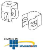 Erico Combination Push-in Wall Clip (Pkg of 100) -- WC812