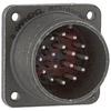 connector,metal circ,box mount recept,no bkshl,size 20,17 #16 solder pin contact -- 70143552