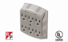 6 Outlet Wall Mount Surge Protector -- 51W1-06 -- View Larger Image
