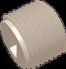 3/4-14 NPT Commercial Grade Slotted Thread Plug, Natural -- AP03SPLG75014N - Image