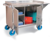 Stainless Steel Mobile Cart With 8