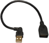 USB A/A Extension Cable (USB-A Right-Angle M to USB-A F), 10-in. -- U005-10I