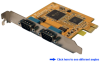 2-Port RS232 Serial PCI-Express (x1) Card -- PES231