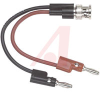 Banana Plug; BNC Male to Multi-StackingBanana Plugs; Brass Nickel Plated -- 70198390 - Image