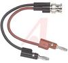 Banana Plug; BNC Male to Multi-StackingBanana Plugs; Brass Nickel Plated -- 70198390