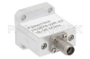 WR-42 Square Cover Flange to End Launch 2.92mm Female Waveguide to Coax Adapter Operating from 18 GHz to 26.5 GHz -- PE9878 - Image